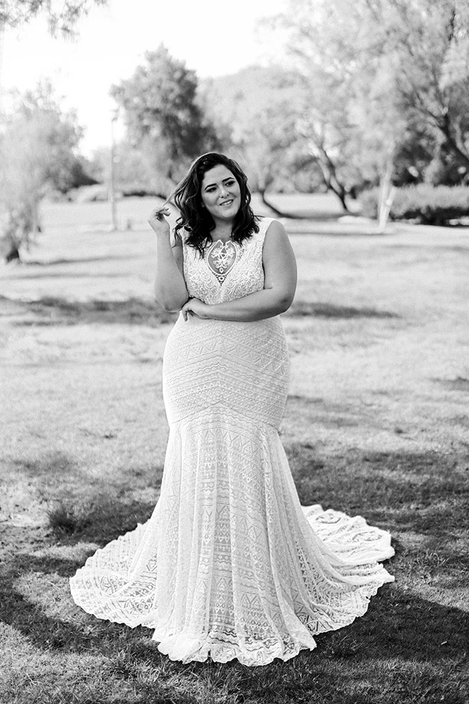 Haven by studio levana plus size all lace wedding dress
