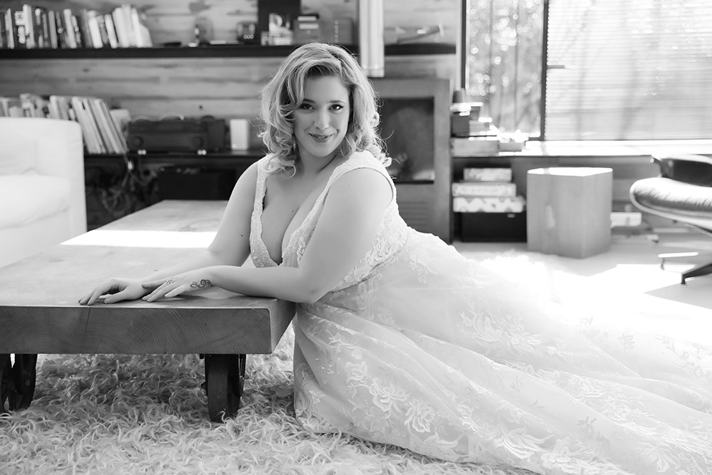 plus size Lilach by studio levana ball gwon all lace with v nackline and long trine