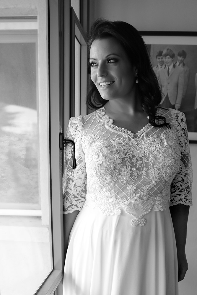 Paola by studio levana plus size weddind dress with lace and pearls top and long lace sleeves