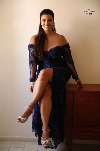 שמלת ערב מידה גדולה Ivonna