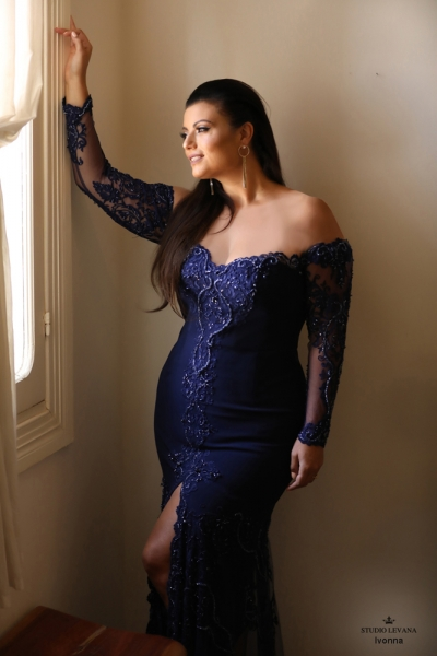 שמלת ערב מידה גדולה Ivonna (1)