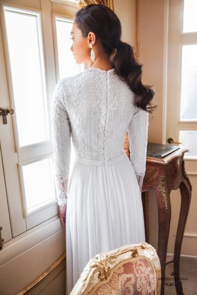 שמלות כלה צנועות 2017 kalina (1)