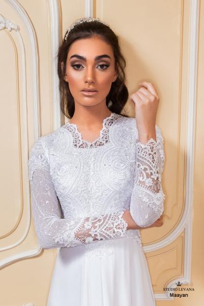 שמלות כלה צנועות 2017 maayan (2)