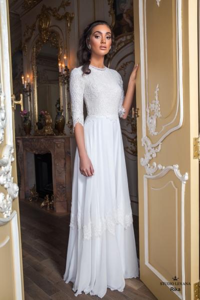 שמלות כלה צנועות 2017 rika (2)