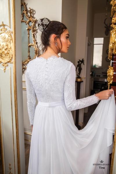 שמלות כלה צנועות 2017 tina (1)