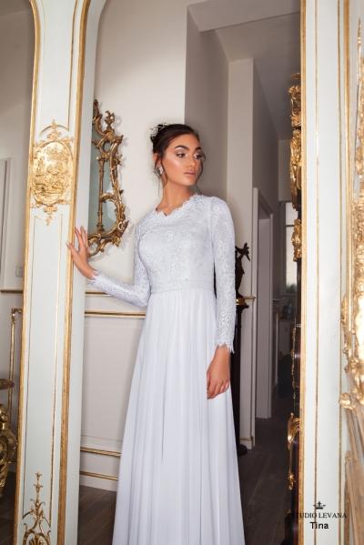 שמלות כלה צנועות 2017 tina (2)
