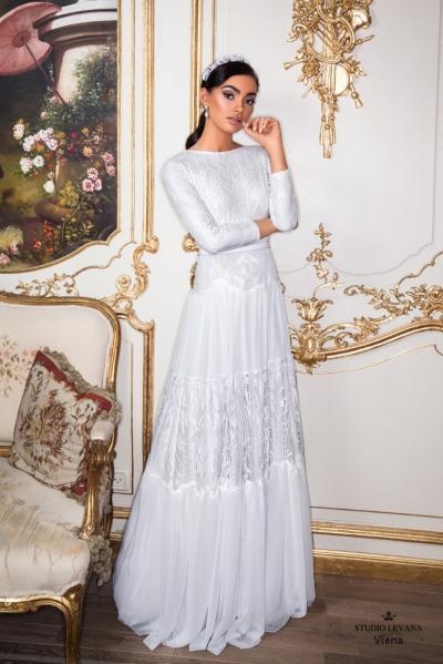 שמלות כלה צנועות 2017 viena (3)
