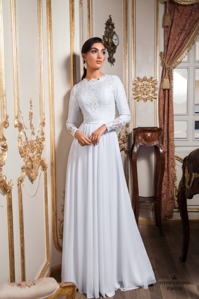 שמלות כלה צנועות 2017 kalina (2)