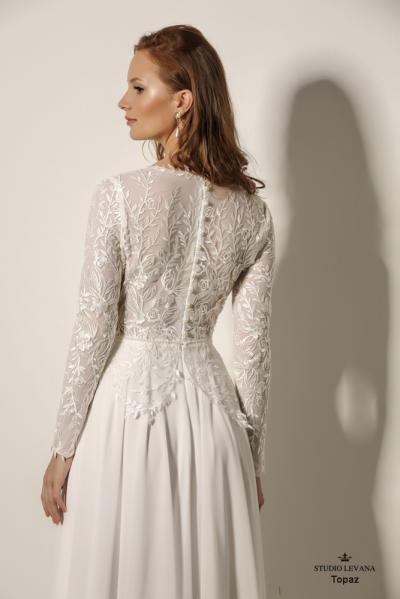שמלותכלהצנועות Topaz (1)