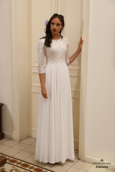 שמלות כלה צנועות Adelaida (3)