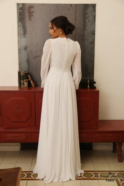 שמלות כלה צנועות Faina (3)