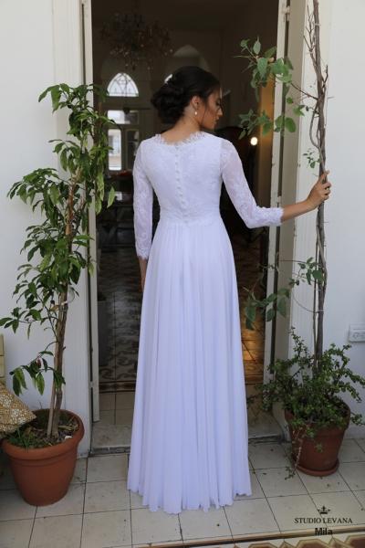 שמלות כלה צנועות Mila (2)