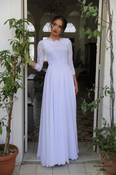 שמלות כלה צנועות Mila (3)
