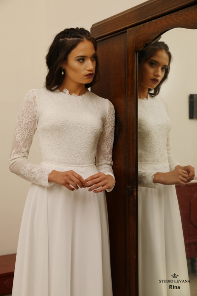 שמלות כלה צנועות Rina (2)