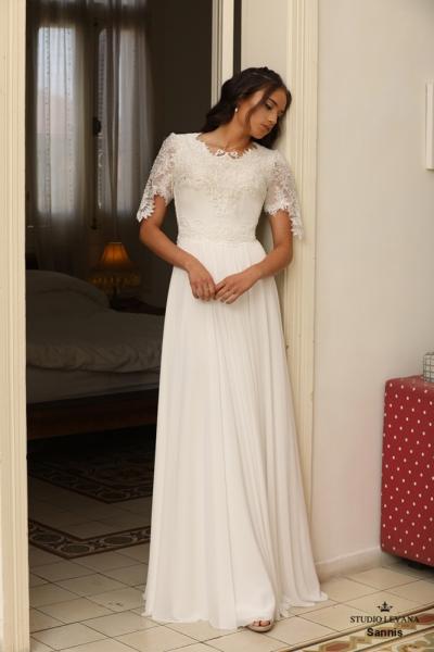 שמלות כלה צנועות Sannis (1)