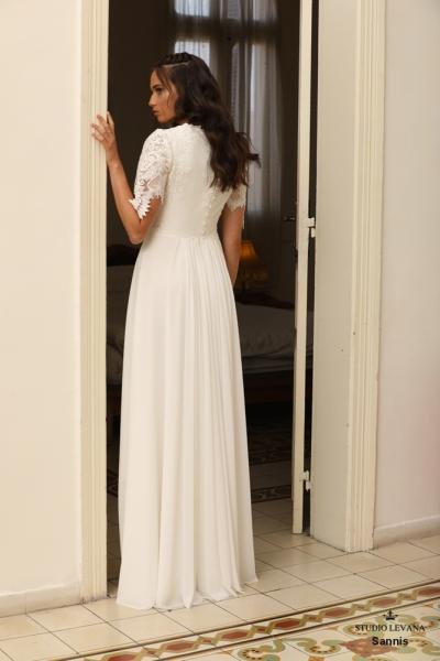 שמלות כלה צנועות Sannis (3)