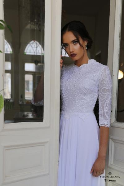 שמלות כלה צנועות Shayna (2)