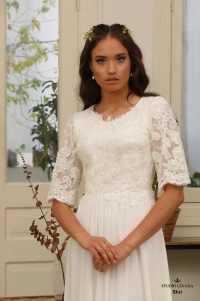 שמלות כלה צנועות Shir (1)