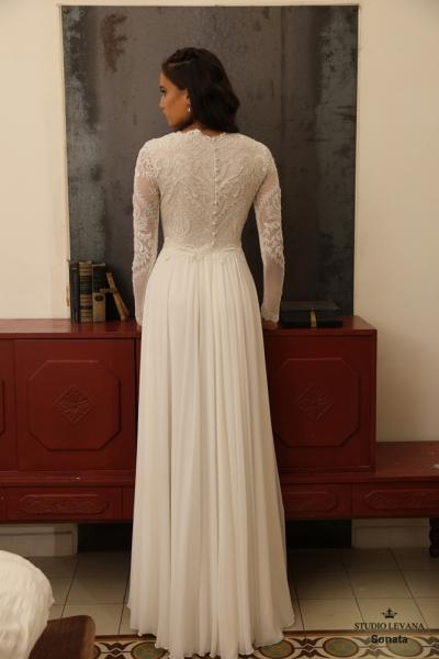 שמלות כלה צנועות Sonata (3)