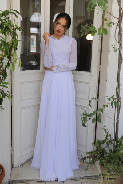 שמלות כלה צנועות Susanna (1)
