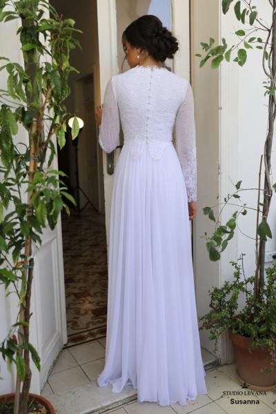 שמלות כלה צנועות Susanna (2)