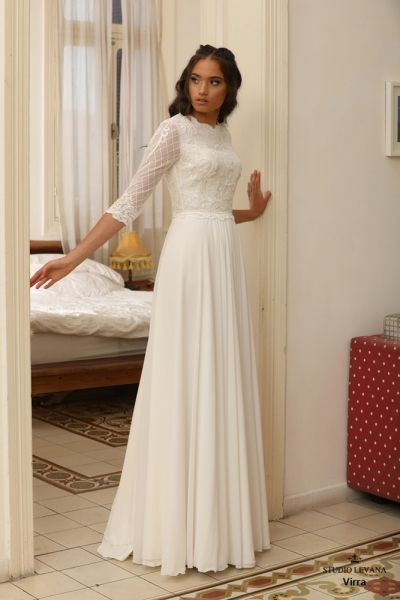 שמלות כלה צנועות Virra (3)