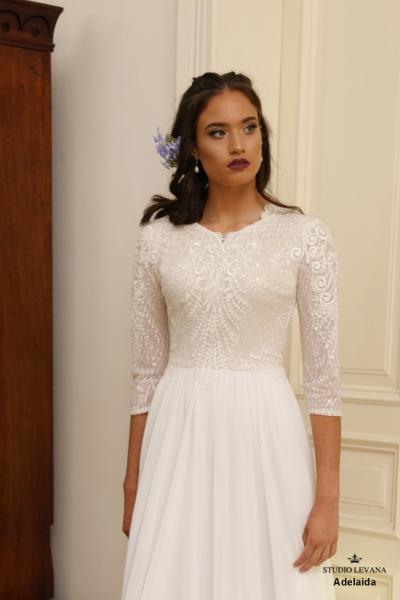 שמלות כלה צנועות Adelaida (1)