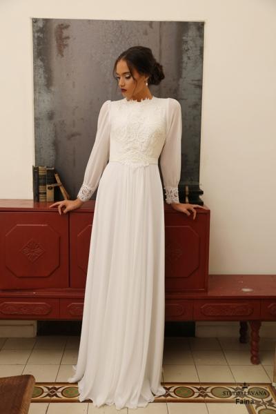 שמלות כלה צנועות Faina (2)