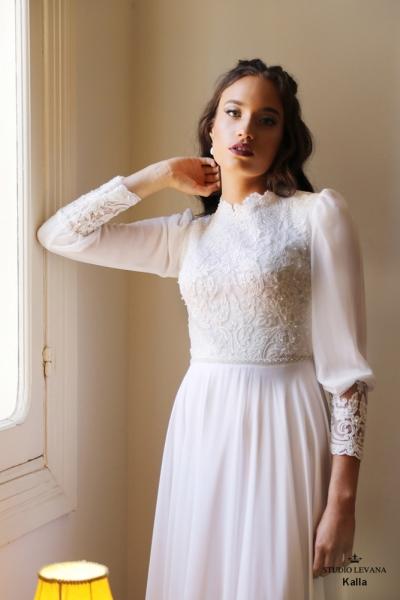 שמלות כלה צנועות Kalla (1)