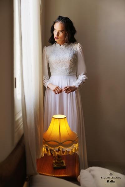 שמלות כלה צנועות Kalla (2)