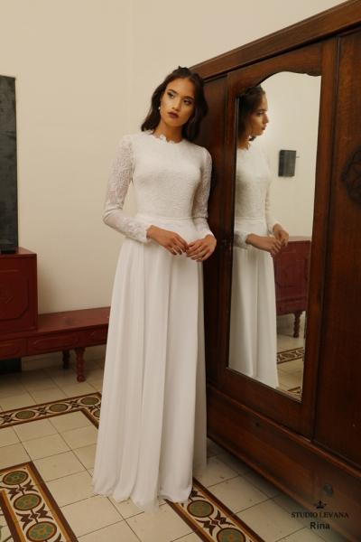 שמלות כלה צנועות Rina (1)