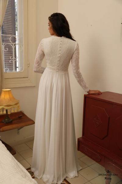 שמלות כלה צנועות Rina (3)