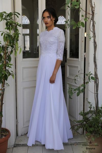 שמלות כלה צנועות Shayna (1)
