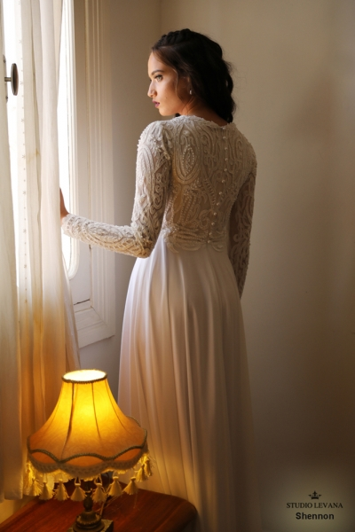שמלות כלה צנועות Shennon (2)