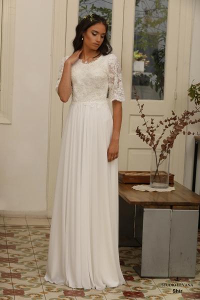 שמלות כלה צנועות Shir (3)