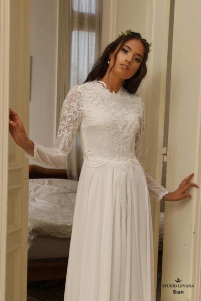 שמלות כלה צנועות Sian (1)