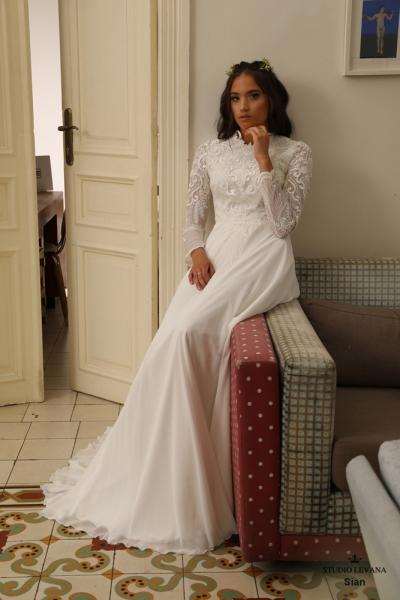 שמלות כלה צנועות Sian (4)