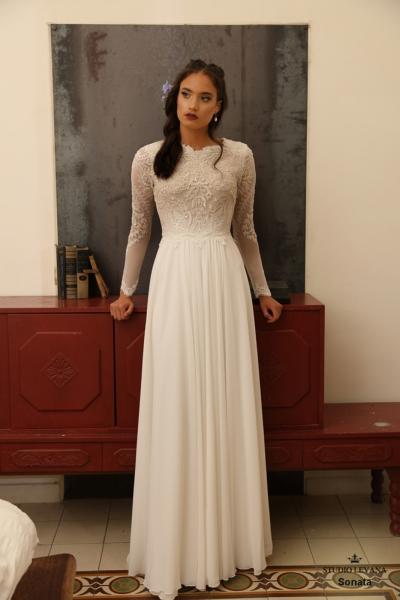 שמלות כלה צנועות Sonata (2)