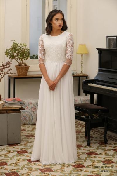שמלות כלה צנועות Tereza (1)