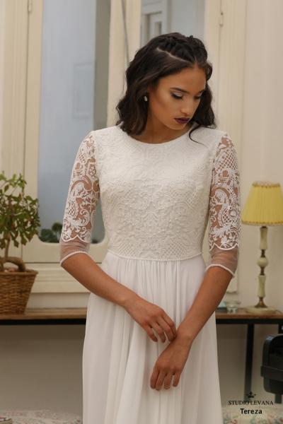 שמלות כלה צנועות Tereza (3)
